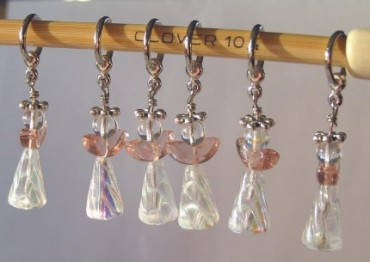 Stitch Markers - Beaded Angels
